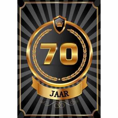 Versiering poster 70 jaar zwart en goud