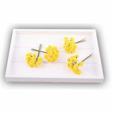 Versiering rozen geel 12 cm