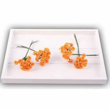 Versiering rozen oranje 12 cm