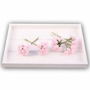 Versiering rozen roze 12 cm