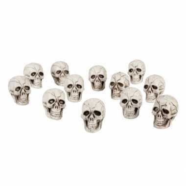 Versiering schedels 12 stuks
