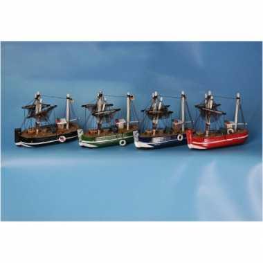 Versiering vissersboot blauw 14 cm