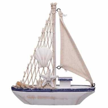 Versiering vissersboot van hout 18 cm
