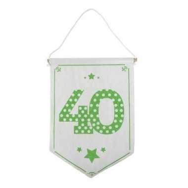 Versiering vlaggetje/vaantje 40 jaar
