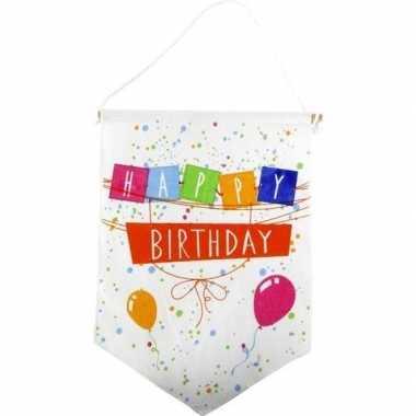 Versiering vlaggetje vaantje happy birthday