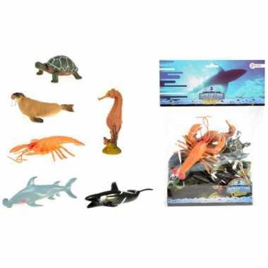Versiering zeediertjes 6 stuks