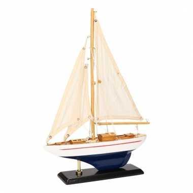 Versiering zeilboot luxe lichtblauw wit 26 cm for Decoratie zeilboot