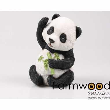 Versieringbeeld baby panda 22 cm