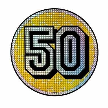 Versieringbord 50 jaar holografisch