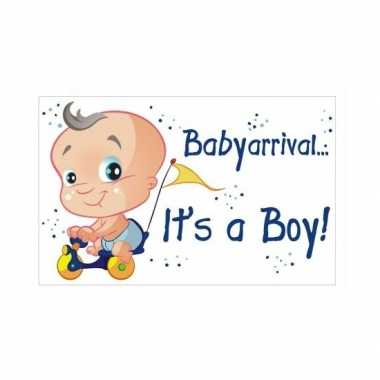 Versieringbord geboorte jongen 35 x 55 cm