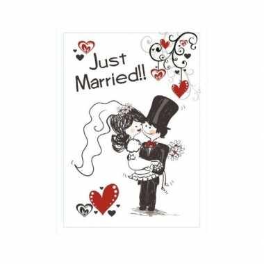 Versieringbord huwelijk 35 x 55 cm