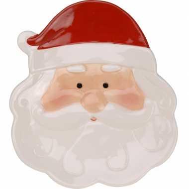 Versieringbord kerstman 24 cm