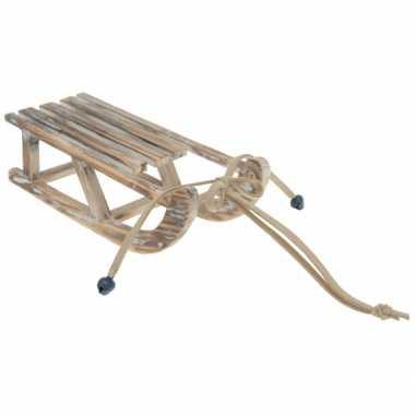 Versieringhanger houten slee