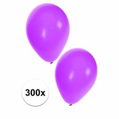 Versierings ballonnen paars, 300 st