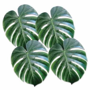 Versieringve palm bladeren 4 stuks