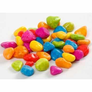 Versieringve stenen neon kleuren 8 10 mm