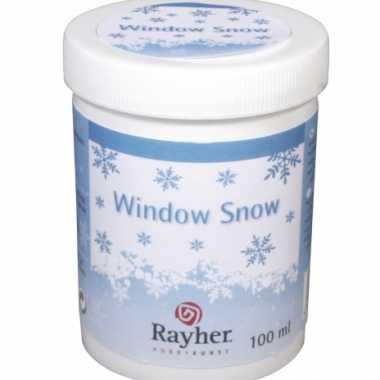 Vloeibare sneeuw voor raamversiering sjablonen