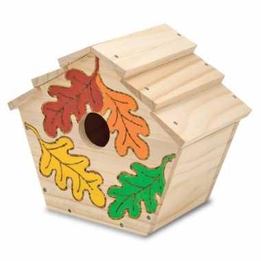 Vogelhuisje verf versiering set