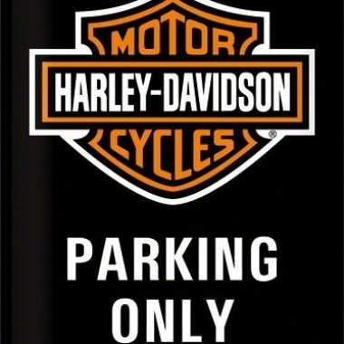 Wandversiering bikers parking only