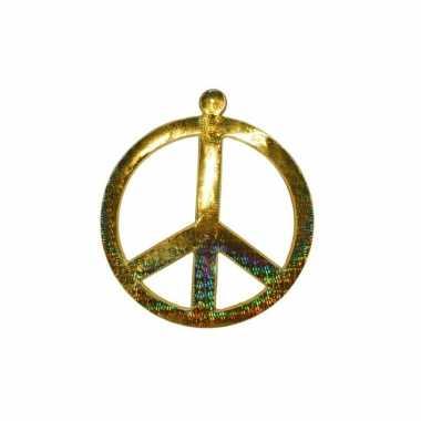 Wandversiering peace 52 cm goud