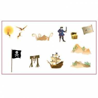 Wandversiering scene setter piraten stickers