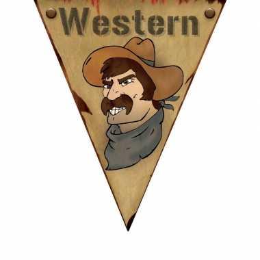 Wild west versiering vlaggenlijn 5 m