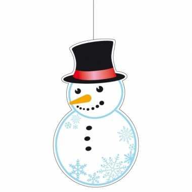 Winter sneeuwpop figuur 41 cm winkelruit versiering