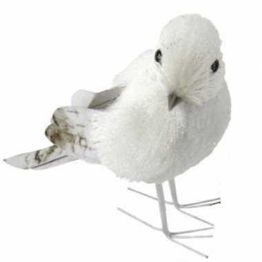 Winterversiering vogel met glitters type 1