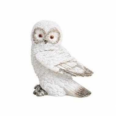 Wit sneeuwuil vogel versiering beeldje 13 cm