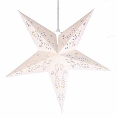 Witte versiering ster 60 cm