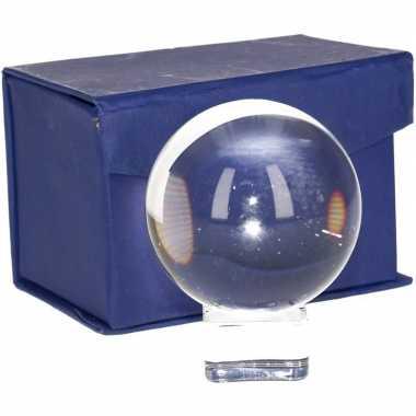 Woonversiering glazen bol 6 cm