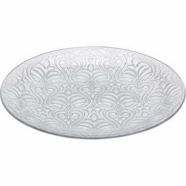 Zilveren versiering schaal 35 cm