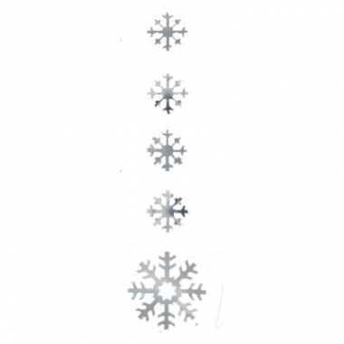 Zilveren versiering sneeuwvlok 140cm