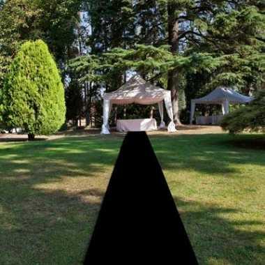 Zwarte versiering loper 1 meter breed