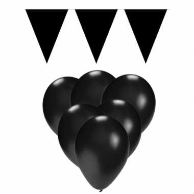 Zwarte versiering versiering pakket