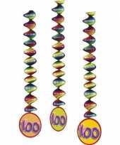 100 jaar versiering spiralen 6x
