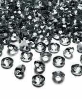 100x hobby versiering donker grijze diamantjes steentjes 12 mm 1 2 cm