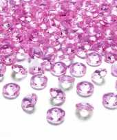 100x hobby versiering fuchsia roze diamantjes steentjes 12 mm 1 2 cm
