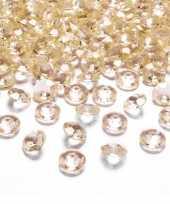 100x hobby versiering gouden diamantjes steentjes 12 mm 1 2 cm