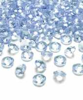 100x hobby versiering lichtblauwe diamantjes steentjes 12 mm 1 2 cm