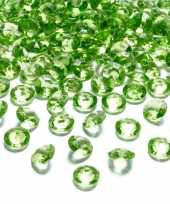 100x hobby versiering lichtgroene diamantjes steentjes 12 mm 1 2 cm