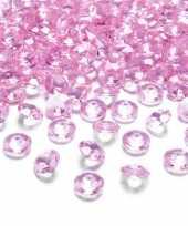 100x hobby versiering lichtroze diamantjes steentjes 12 mm 1 2 cm
