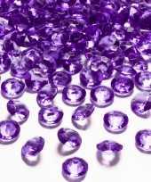 100x hobby versiering paarse diamantjes steentjes 12 mm 1 2 cm