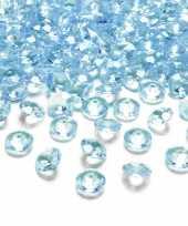 100x hobby versiering turquoise blauwe diamantjes steentjes 12 mm 1 2 cm