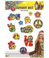 12x hippie thema versiering borden