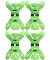 12x slingers versiering ophangen slingerklemmen groen