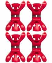 12x slingers versiering ophangen slingerklemmen rood