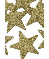 16 stuks gouden versiering sterren 5 cm