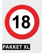 18 jarige verkeerbord versiering pakket xl