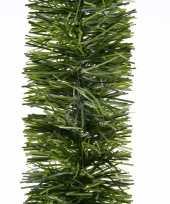 1x groene dennen kerstslingers 270 cm kerstboom versieringen
